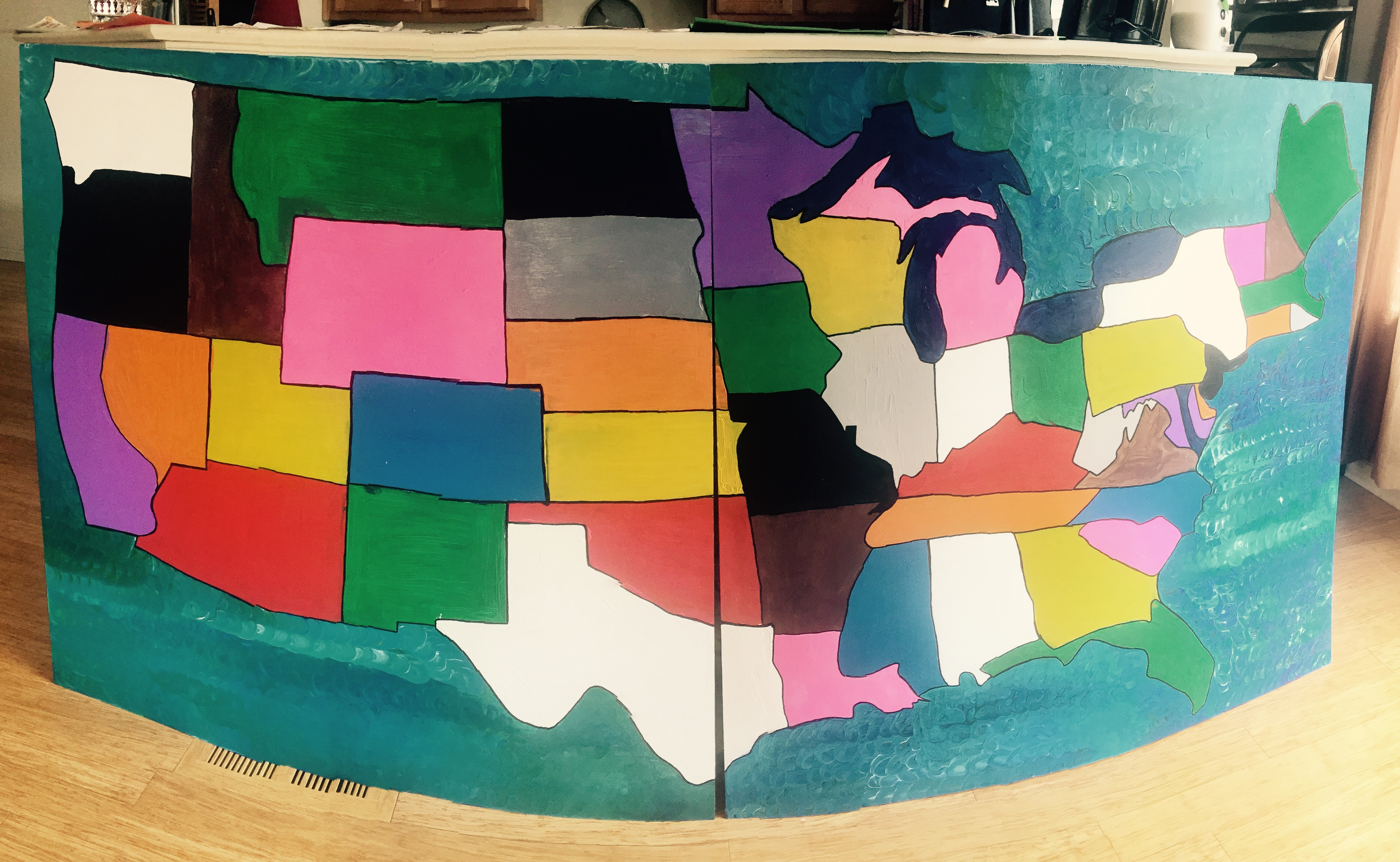 USA Map Ready for Bottle Caps