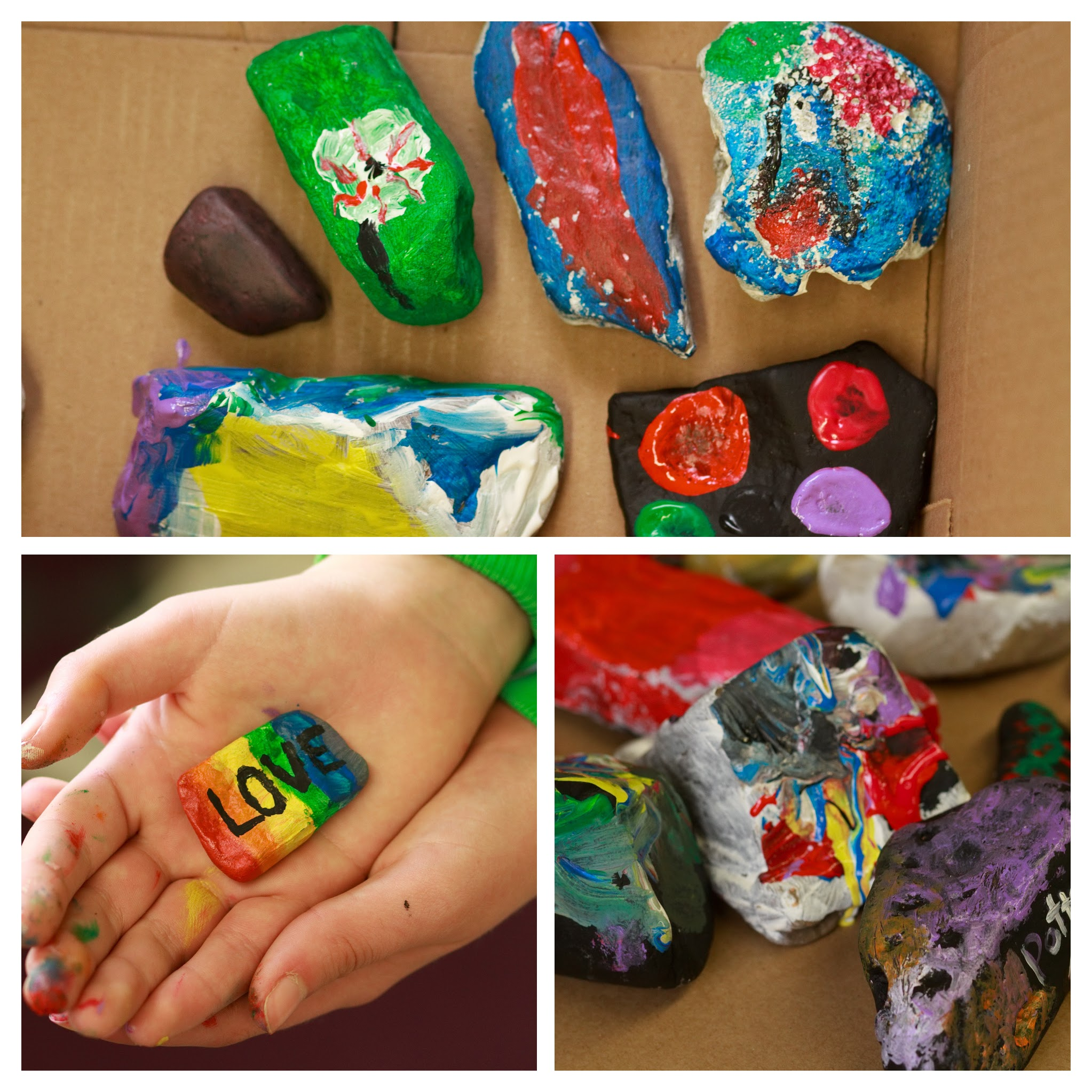 Painting Rocks at the Pottstown Library