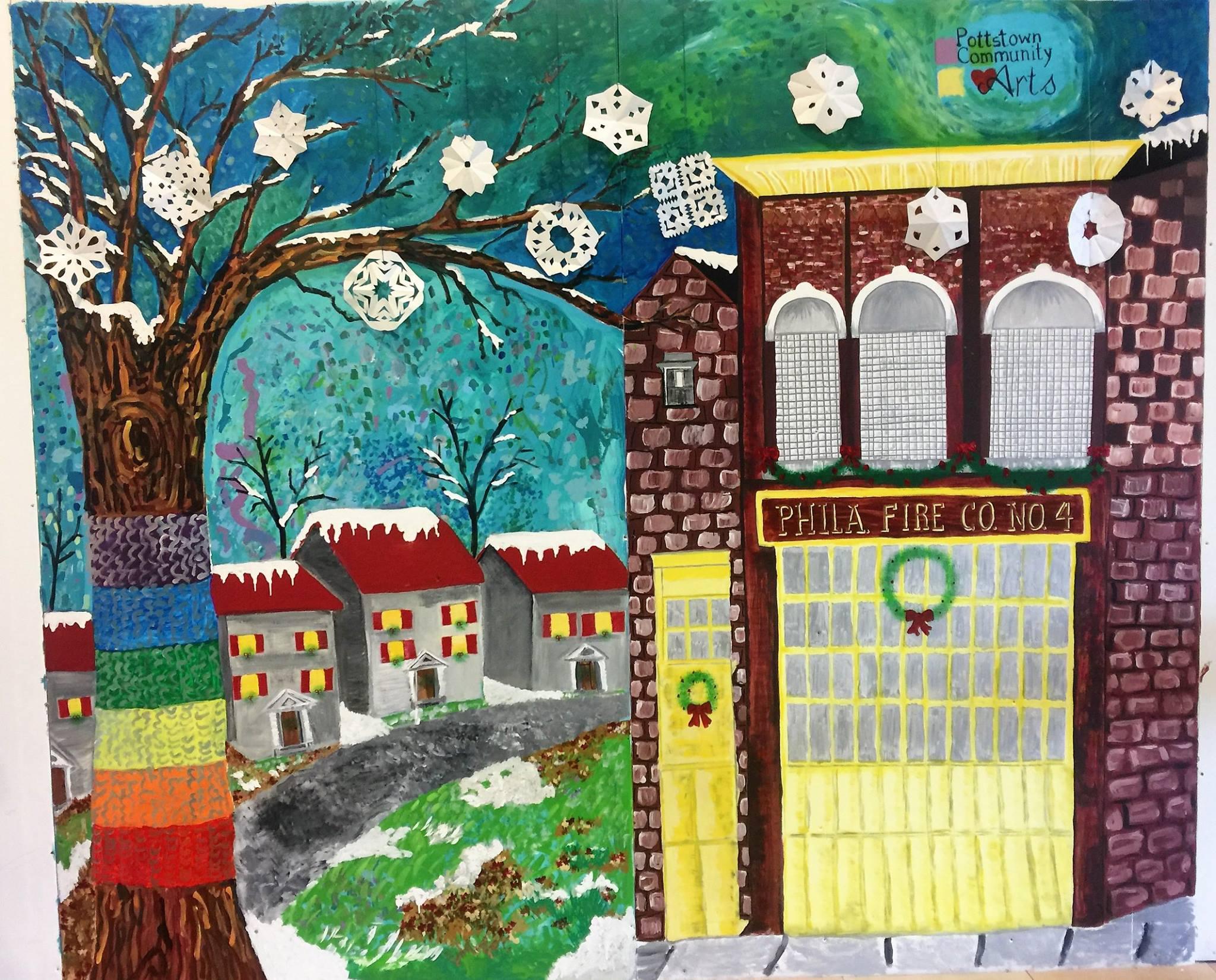 Winter on Chestnut Street Mural
