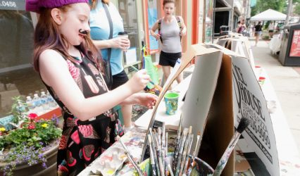 Plein-air Painting at Local Arts Walk